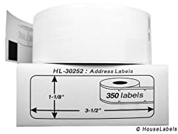 DYMO-Compatible 30252 Address Labels (1-1/8\