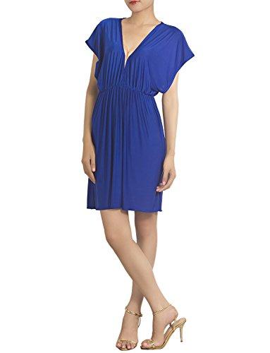 ib-ip-womens-deep-v-neck-plunge-bikini-swimsuit-mini-tunic-cover-up-size-m-l-royal