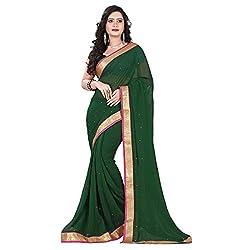 Aagaman Fashion Chiffon Saree ( TSKL6019_Green )