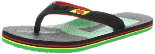 DC Shoes SNAP GRAFFIK D0320324, Infradito uomo, Multicolore (Mehrfarbig (RASTA)), 38