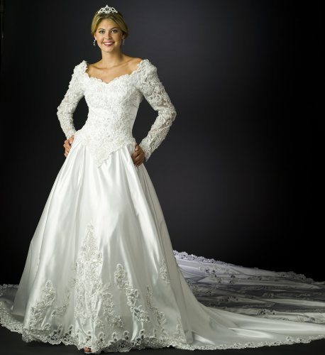 Wedding Dress Gown - White Bridal Gown, Informal Bridal Gown, Ball gown by Sean Collection (B8013) White