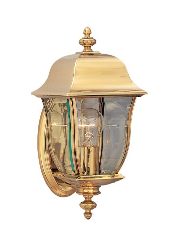 Designers Fountain 1532-PVD-PB Gladiator Wall Lanterns, Brass Treated Polish