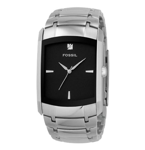 Fossil Men's FS4156 Stainless Steel Bracelet Black Analog Dial Watch