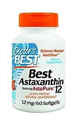 Doctor\'s Best Astaxanthin Supplement, 60 Count