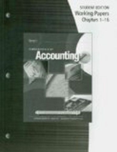 Working Papers for Gilbertson/Lehman's Fundamentals of Accounting: Course 1