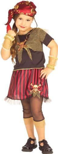 New Kids Halloween Costumes Punk Pirate Girls Costume M Girls Medium (5-7 years)