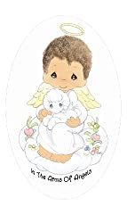 Official Precious Moments Cremation Urn - In The Arms Of Angels for African American Boy