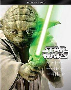 Star Wars Prequel Trilogy Episodes I II III 1 2 3 Blu-ray/DVD 2013 6-Disc Set