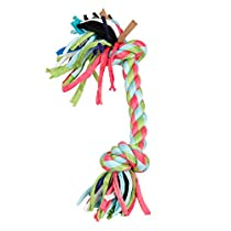 ALEKO® PT04 Puppy Dog Chew Toy Chewing Rope with Knots and Playful Strings, Multicolored