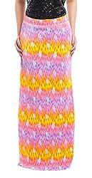 ZOYS Women's Lycra Regular Fit Skirt (ZOYSMS03 _ 30, Multicolor)
