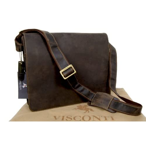 Visconti Leather Messenger Bag A4 Workplace 18548
