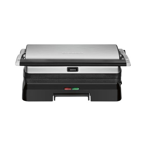 Cuisinart - Griddler Grill And Panini Press - Brushed Stainless-Steel