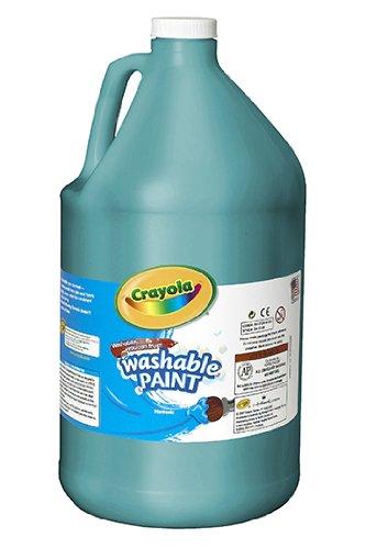 Washable Paint Gallon Turquoise -- Case of 2
