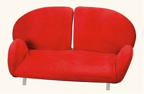 Adesso Flomo Love Seat, FL7701-08 Red