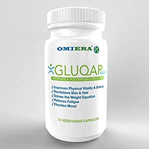 Omiera Labs Gluqap MAR Glutathione, Resveratrol, Coenzyme Q-10 Anti-Aging Supplement To Support Physical Vitality And Energy.(15)