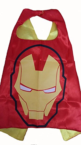 KeepworthSourcing Double Side 55*70CM Superhero capes for Kids Party Children Gifts Iron Man