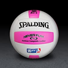 US Open / NeverFlat - Pink/White Volleyball