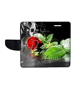 KolorEdge Printed Flip Cover For Samsung Galaxy Win 2 Multicolor - (1476-45KeMLogo09832SamWin2)