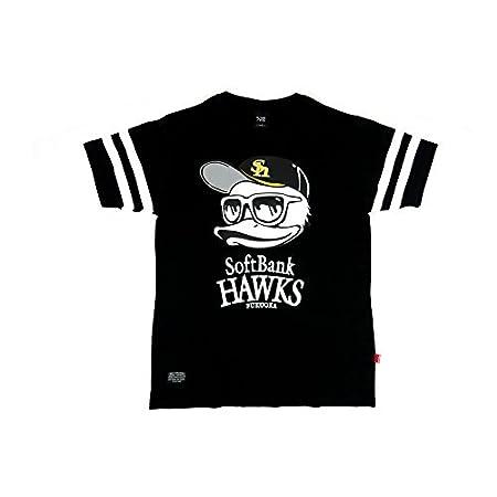 (ビーワンソウル) B ONE SOUL 2color メンズ Tシャツ 半袖 ダックデュード DUCK DUDE 福岡 ソフトバンク ホークス コラボ M ブラック