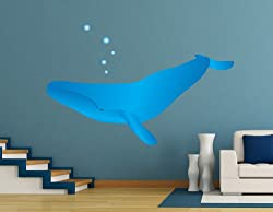 Vinyl Wall Decal Sticker Whale Bubbles MGeise112B