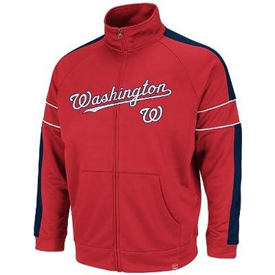 MLB Washington Nationals Home Field Advantage Track Jacket, Red/Navy/White