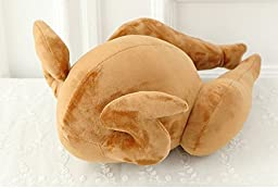 YunNasi Fancy Fried Turkey Filling Throw Pillow Plush Chicken Play Toy For Home Sofa Couch (fried chicken)