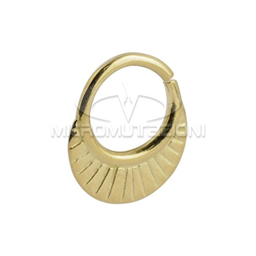 Septum Piercing Orientale da Setto Nasale in Argento Septum Ring Indian Ornamental Silver Gold 4