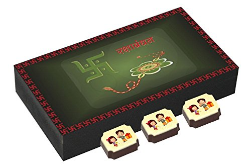 Best Chocolate Box With Rakhi - Unique Gift For Rakshabandhan - 6 Chocolate Box With Rakhi
