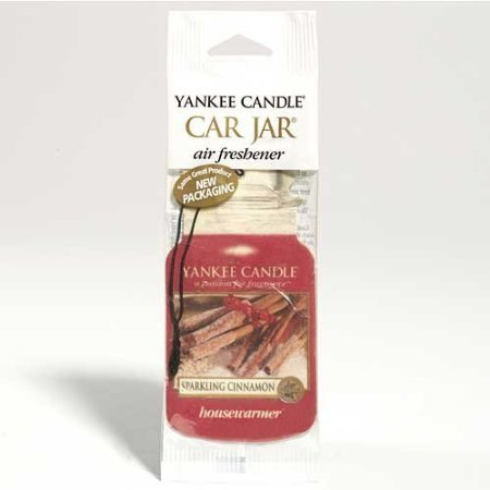Yankee Candle Classic Car Jar Hanging Air Freshener, Sparkling Cinnamon Scent