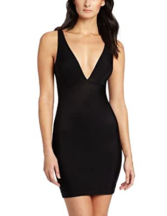 NEARLY NUDE Women's Firming Microfiber Slip, Black, X-Large at Amazon