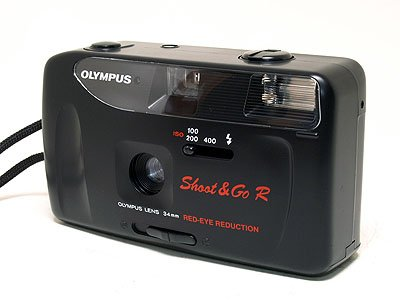 Olympus Shoot and Go R - 1 35 mm FILM Compact Camera - Black