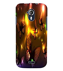 ColourCraft Lovely Butterflies Design Back Case Cover for MICROMAX CANVAS MAGNUS A117