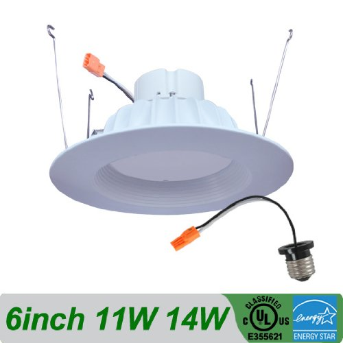 6-Inch 11W, 4000K Cool White, Led Downlight Recessed Trim Kit, Perfect For Commercial And Retail Applications. Ul Listed, Dimmable 90W Halogen Bulb Equivalent. Fits 5-Inch And 6-Inch Can Housings.