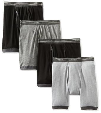 Hanes Men's 4 Pack Boxer Brief, Multi Color Assorted, Medium
