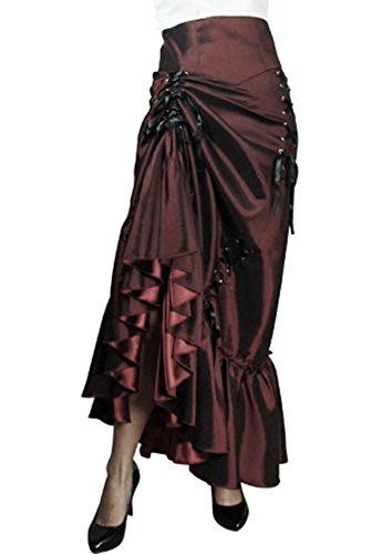Victorian Style Sateen Corset Skirt