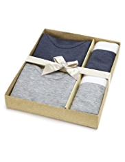 2 Pack Autograph Pure Cotton Vests & Trunks Set
