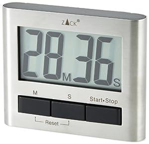 Zack 20650 Savio Minuteur de cuisine magnétique 6,6 x 8,3 cm