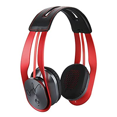 2015 New Syllable G700 Wireless Bluetooth 4.0 Noise Cancellation NFC HIFI Stereo Headphone Headset with Microphone for Samsung iPhone iPad MP3/MP4 Laptop PC Tablet Smartphones and Any Device with 3.5mm Jack/Bluetooth/NFC (Red)