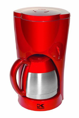 Kalorik Tkm-17409 900-Watt 8-10-Cup Coffeemaker With Stainless-Steel Carafe, Red