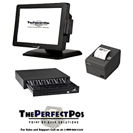 Restaurant Touch Screen Terminal Bundle with ZuesPOS Software
