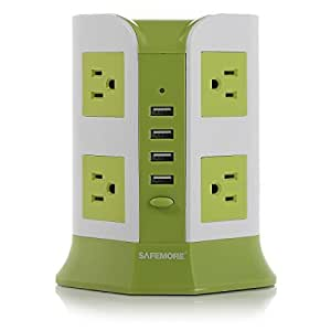 Safemore Smart 8-Outlet with 4-USB Output Surge