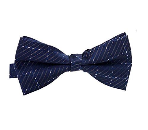 Arctic Star Men'S Tuxedo Bow Tie Blue Stripes Bowtie