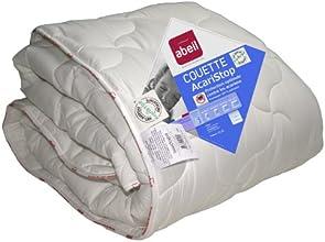 Abeil Couette Anti-Acarien/Antibactérienne Etoile Polyester Blanc 220 x 240 cm