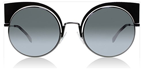 Fendi-KJ1T4-Gunmetal-0177S-Cats-Eyes-Sunglasses-Lens-Category-3-Lens-Mirrored