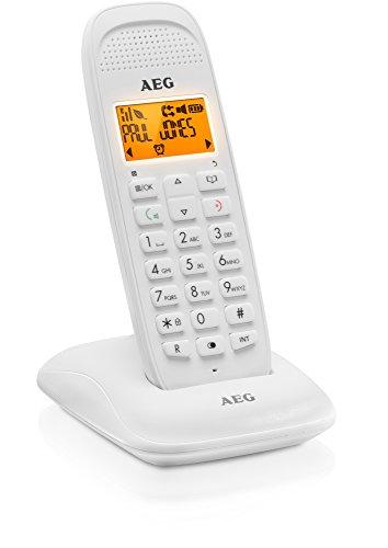 AEG téléphone DECT sans fil avec fonction mains libres - D81 - Blanc
