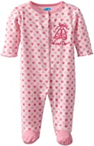 Bon Bebe Baby-girls Newborn Little Dancer Snap Front Footed Coverall, Multi, 3-6 Months