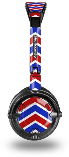 Skullcandy Lowrider Headphone Skin - Zig Zag Red White And Blue - Headphones Not Included