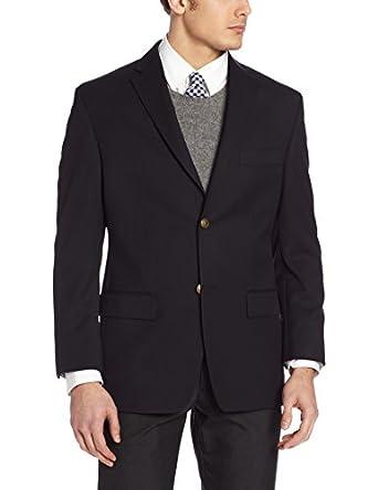 Haggar Men's Solid Two Button Center Vent Sport Coat,  Navy, 40 R