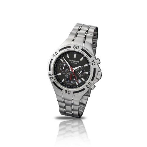 Sekonda Men's Chronograph Black Dial Watch