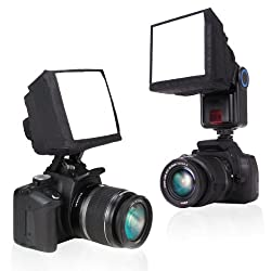 Pop-Up Universal Soft Screen Box External Flash Diffuser for Canon EOS Rebel T5i / 100D , T4i / 650D , T3 , T3i / 600D , SL1 / 5D Mark III and Many More Canon Digital SLR Cameras for Canon Speedlight - Includes Miniature Tripod!